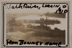 """1910, """"Black River, Lorain, O, 1910, from BONNEY Home"""""""