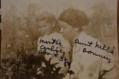 "Martha Carlisle about 3 yrs  Aunt Nellie Bonney"""